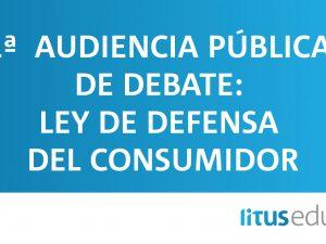 1° Audiencia pública de debate: Ley de defensa del consumidor
